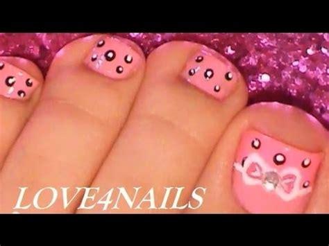 youtube toe nail art tutorial easy bow toe nail art design tutorial youtube