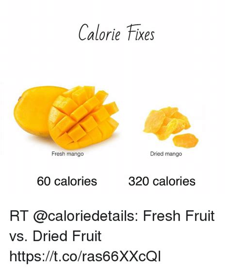 fruit 60 calories calorie fixes fresh mango dried mango 60 calories 320