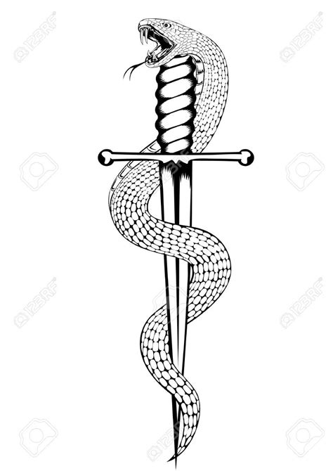 snake and dagger tattoo design snake and dagger black and white search