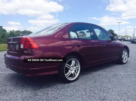 2004 honda civic ex sedan 4 door manual as traded