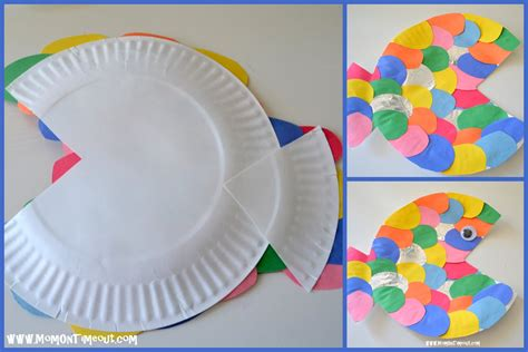 paper plate fish template summer reading adventure week 2 the rainbow fish