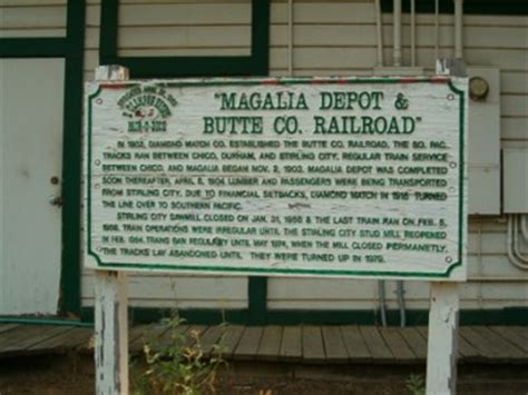 magalia depot butte county railroad e clus vitus