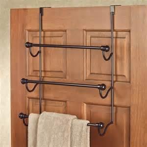 bronze the door three bar towel rack