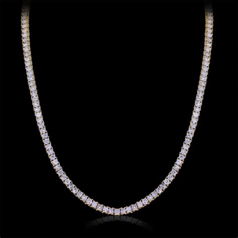 Build Custom Home Online by White Diamond Tennis Chain Necklace