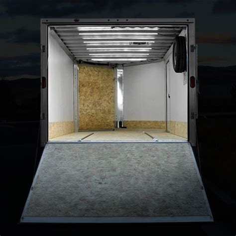 enclosed trailer led lights ribbon ultra white waterproof led lights are