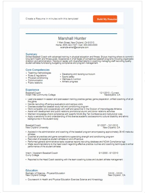 175 Free Resume Templates Word Pdf Psd Sles Coaching Resume Template Word