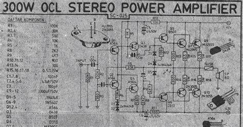 Power Lifier Ocl 300 Watt 300w power lifier ocl circuit circuit wiring