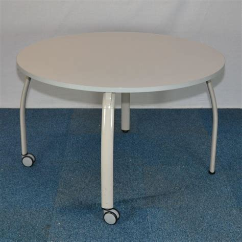 Grey Meeting Table Vario Light Grey 1200d Meeting Table