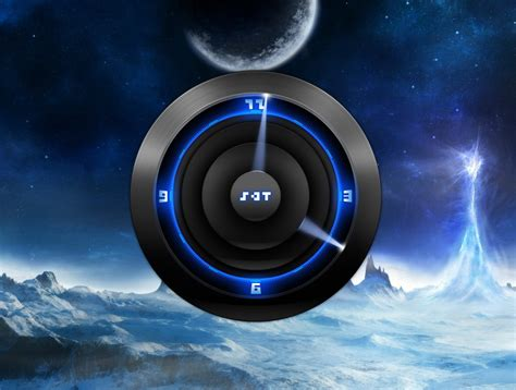 futuristic clock futuristic analog clock for xwidget by jimking on deviantart
