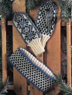 pattern matching head knitted nordic mittens free knitting pattern free