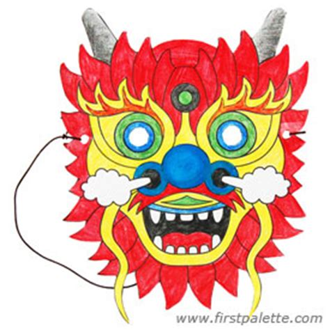 chinese dragon mask craft kids crafts firstpalette com