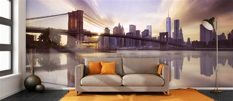 the living room brooklyn new york city skyline wallpaper new york wall murals