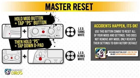 reset ps3 video out ps4 master mod factory reset controller chaos youtube