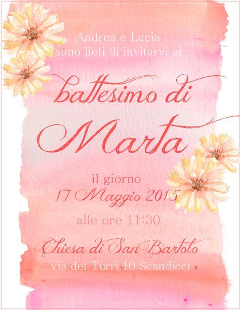 born to be a wildflower grafica invito battesimo