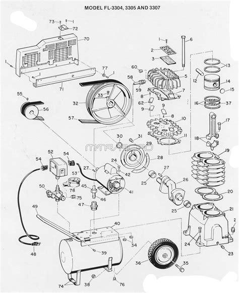 cbell hausfeld fl 3305 fl3305 air compressor parts