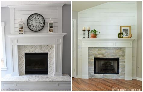 brick fireplace makeover to always look