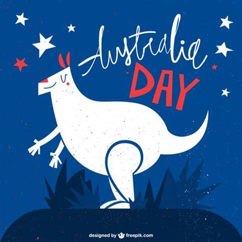 day image free australia day kangaroo illustration vector free