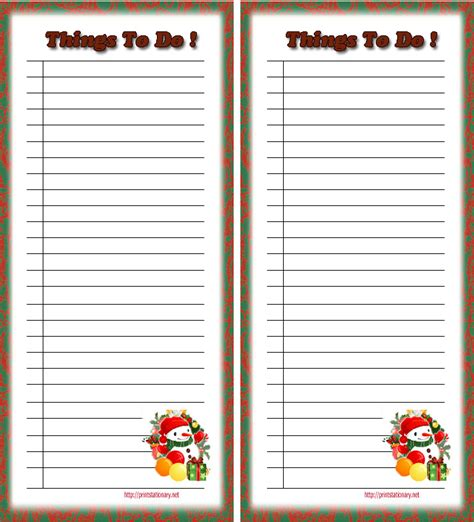 free printable holiday to do list 4 best images of free christmas printable to do list