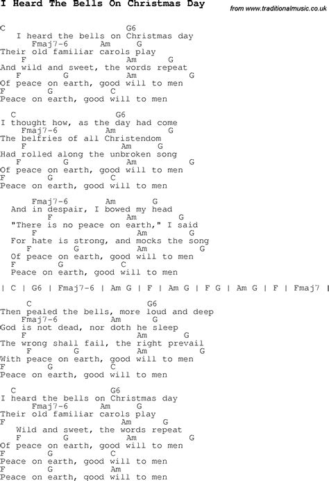 testo you ll be in my carol song lyrics with chords for i heard the