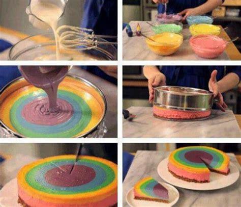 diy cake diy make rainbow cake