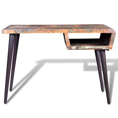 Legs For Desk by Reclaimed Wood Desk With Iron Legs Vidaxl