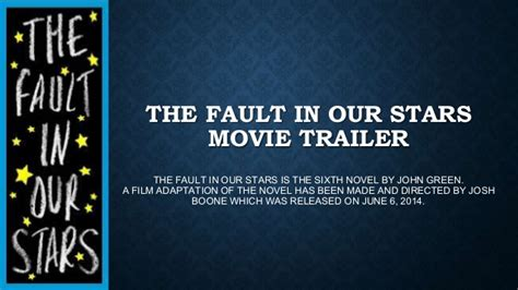 the fault in our series 1 the fault in our trailer