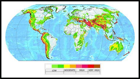 earthquake risk map earthquake map risk