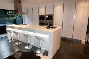 white gloss kitchen breakfast bar kitchen and decor