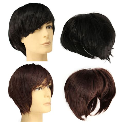 male wigs wigshop wigs female wigs mens wigs men cosplay wig handsome short straight hair party full
