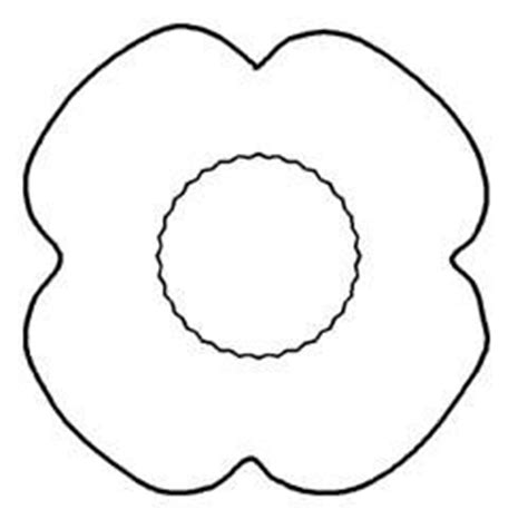 poppy template for children poppy template poppies and templates on
