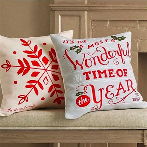 christmas throw pillows add a touch of holiday cheer to