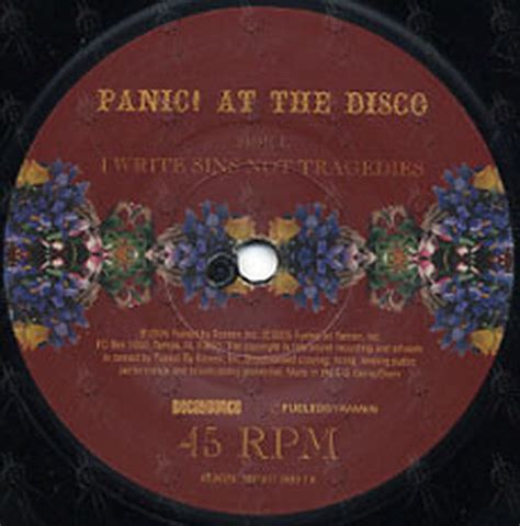 panic at the disco a picture with books panic at the disco i write sins not tragedies 7 inch