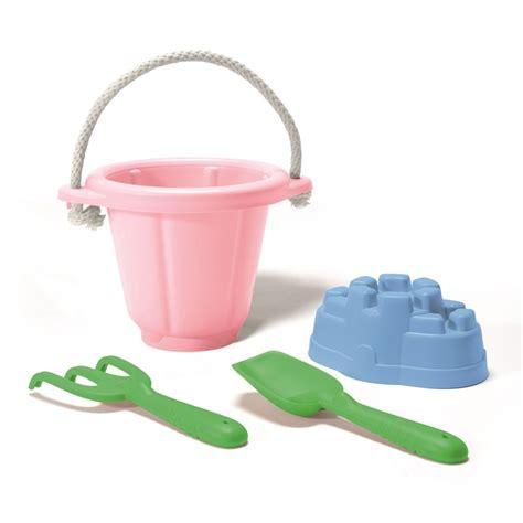 buitenspeelgoed eco zandbak speelgoed gerecycled roze green toys