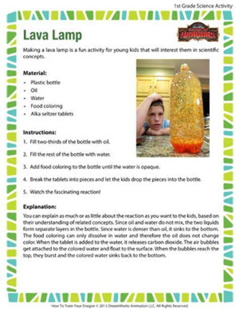 Lava Lamp Science Experiment Worksheet