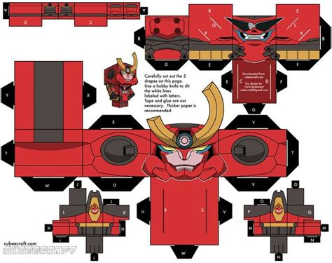 Gurren Lagann Papercraft - 255 best cubee cubes figures images on