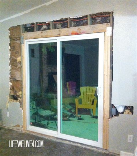 How To Install Sliding Patio Door Diy Install Patio Door In Brick Or Limestone Wall