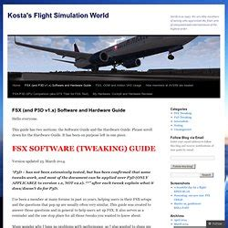 fsx and p3d v1 x software and hardware guide kostas flight simulation pearltrees