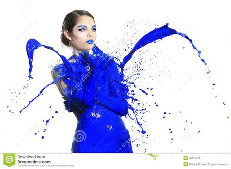 in paint high speed photography of with liquid paint stock