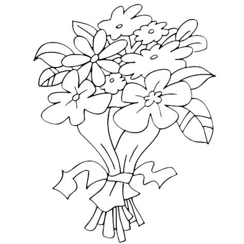 immagini di fiori disegnati disegni da colorare mazzo di fiori stabile gratuito per