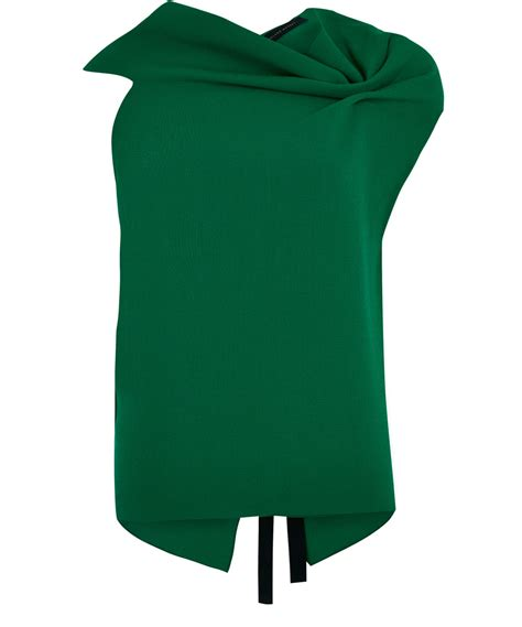 Emeral Top lyst roland mouret emerald eugene drape cotton top in green