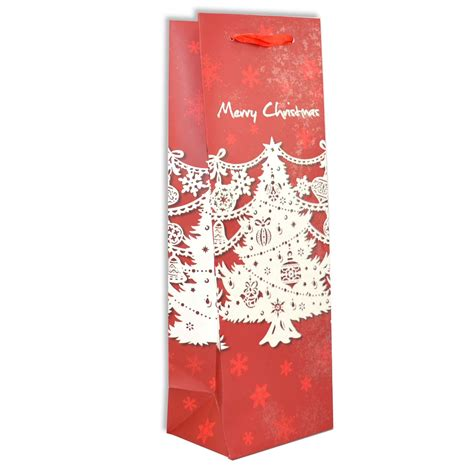 xmas christmas wine bottle gift bags holder cover