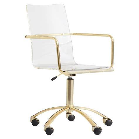 Gold Paige Acrylic Swivel Chair Acrylic Swivel Chair