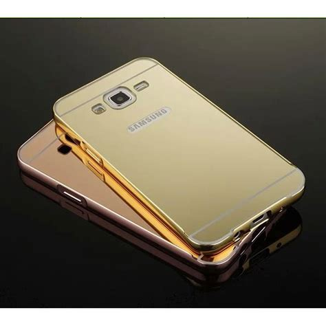 Aluminium Bumper With Mirror Back Cover For Samsung Gal Murah 1 aluminium bumper with mirror back cover for samsung galaxy j5 2015 black jakartanotebook