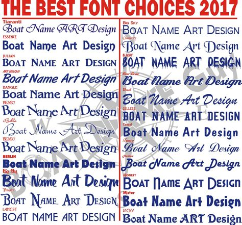 boat lettering boat name design install ta clearwater - Boat Name Fonts