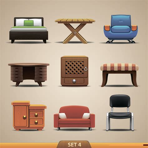 Iconic Lounge Chairs Design Ideas 沙发床桌子家具图标模板下载 图片编号 20130831045401 家具电器 生活百科 矢量素材 聚图网 Juimg