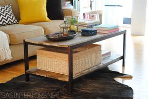 Diy modern to industrial style coffee table easy upgrade by removing