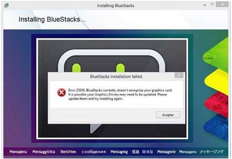 bluestacks system requirements fix bluestacks graphic card error 25000 in windows 8 1 8 7