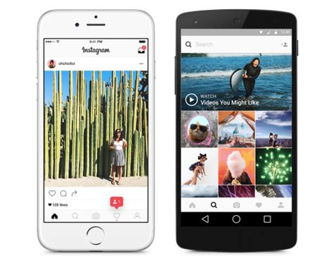 layout android instagram instagram gets a redesigned app and colorful icon on