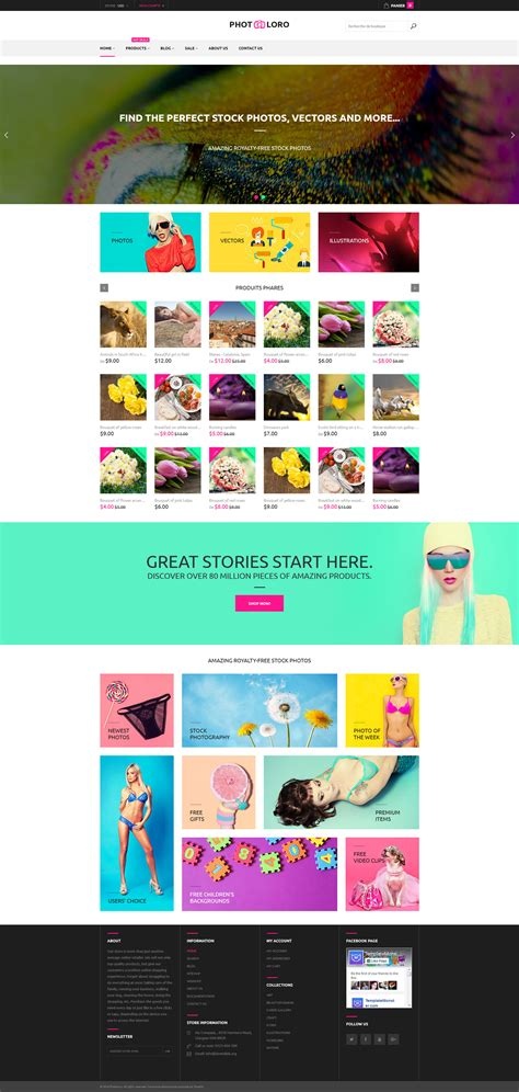 shopify themes for photographers stock photo shopify theme