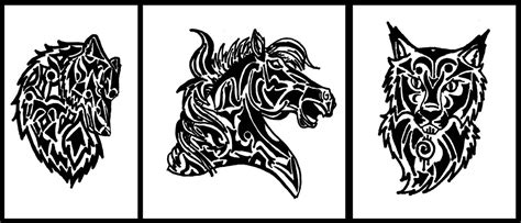 bobcat tattoo designs tribal wolf and bobcat stencil by wildspiritdesigns